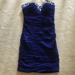 Sequin Short Blue Homecoming/prom dress